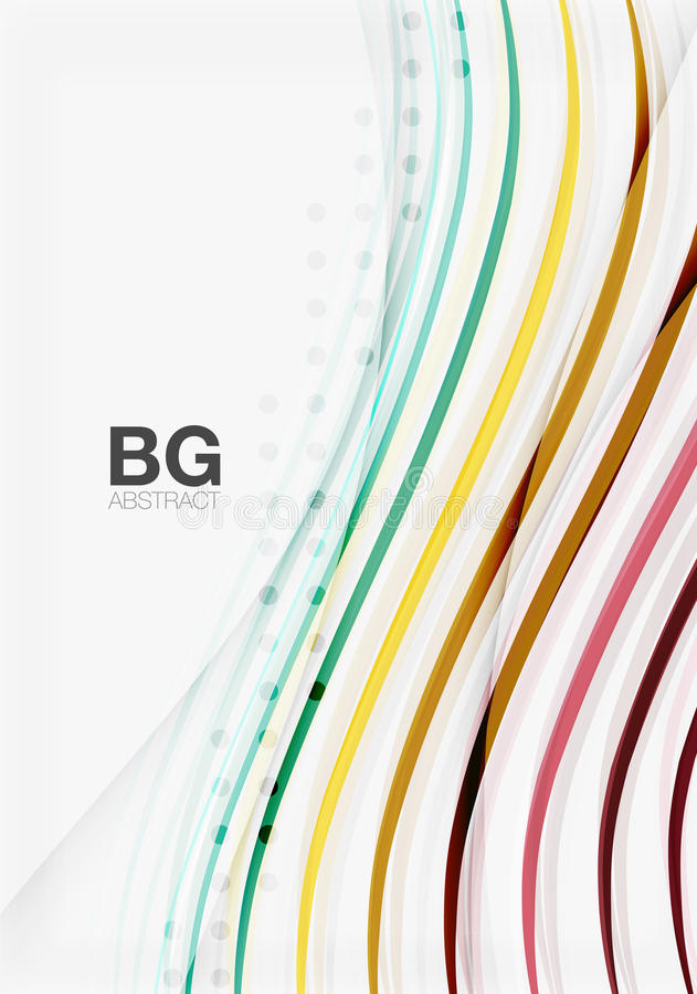 Colorful stripes on grey. Modern technology or business web abstract background royalty free illustration