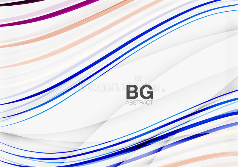 Colorful stripes on grey vector illustration