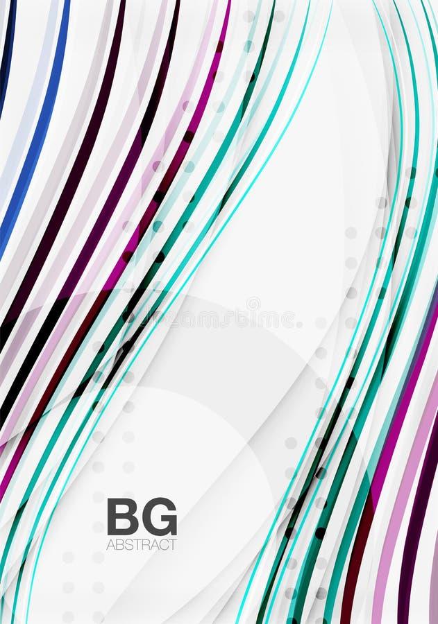 Colorful stripes on grey stock illustration