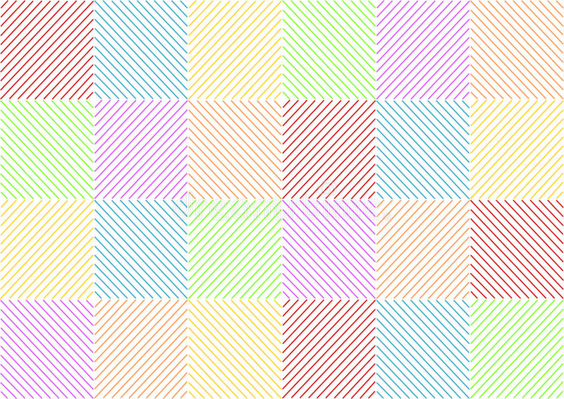 Colorful stripes opposite squared. Background with colorful stripes opposite squared in a landscape format vector illustration