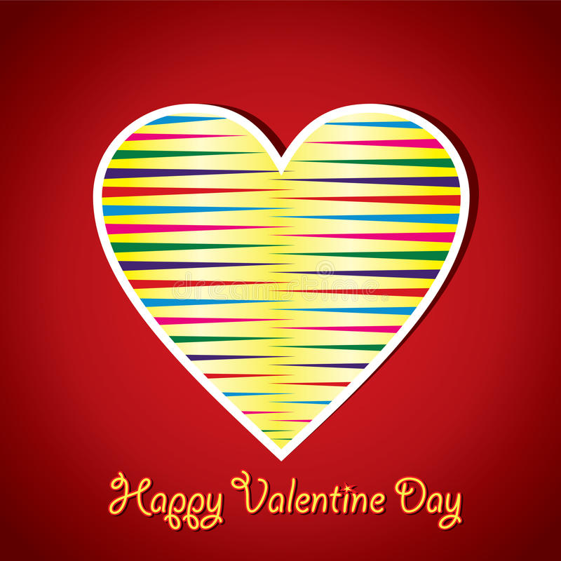 Colorful Stripped Heart Shape Stock Photography