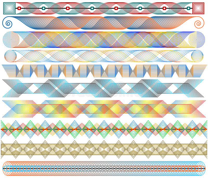 Colorful strips vector illustration