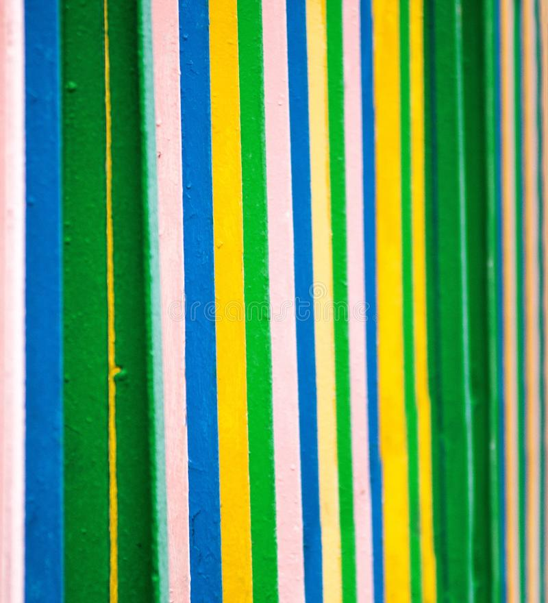 Colorful strips line. Painted on metal surface background royalty free stock photos