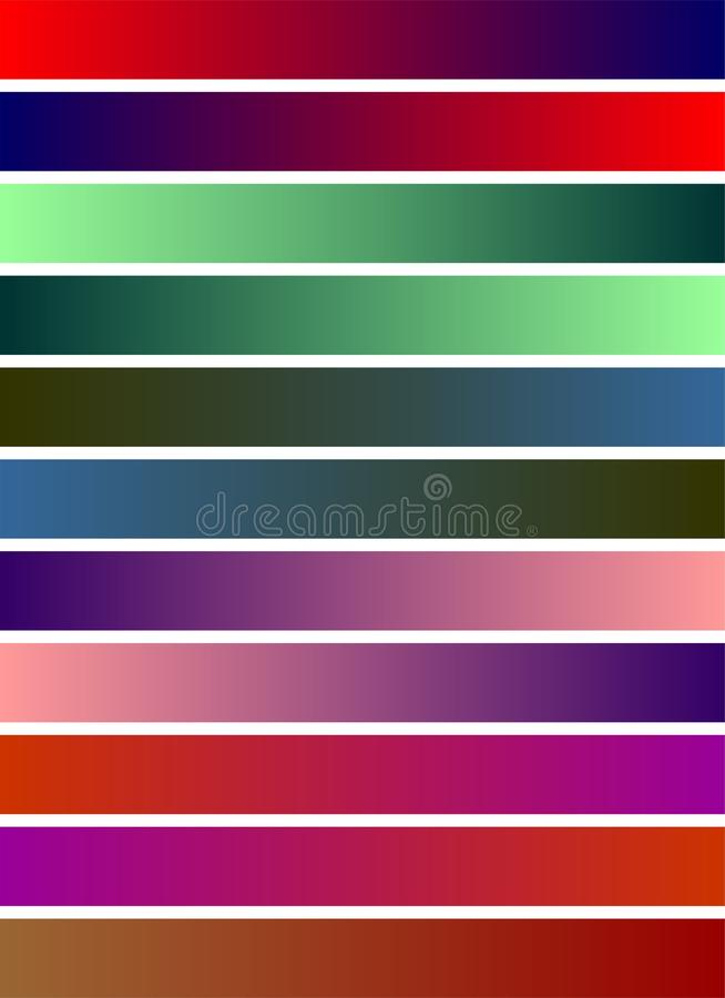 Colorful strips simple white background shaded strips vivid vector illustration wallpaper. Many uses for advertising, book page, paintings, printing, mobile royalty free illustration