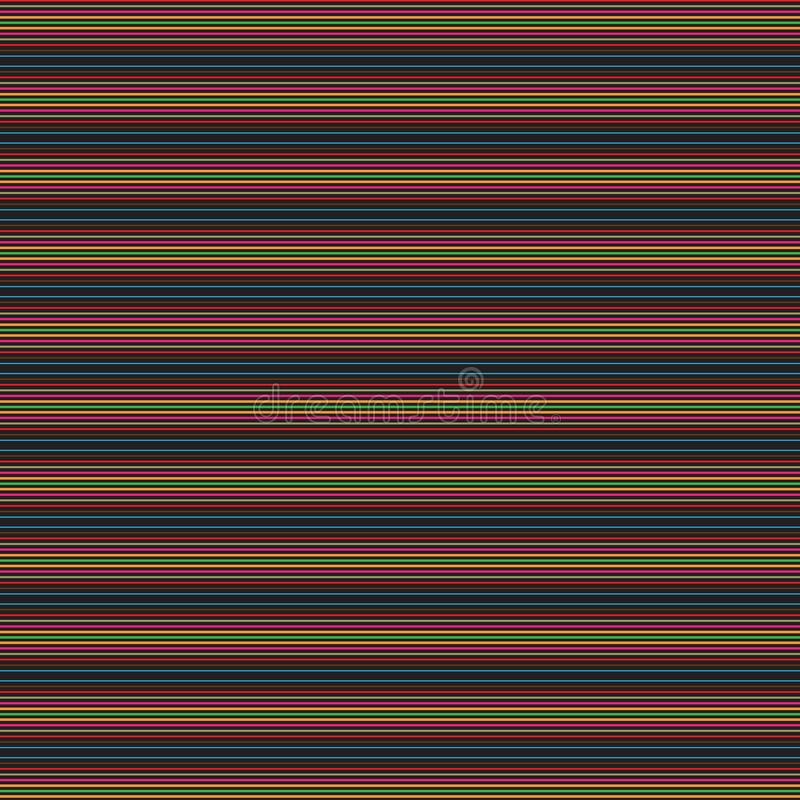 Retro Abstract Colorful Stripe Lines Native Ethnic Background Pattern. Colorful Stylish Retro Abstract Black Stripes Lines Modern Unique Fabric Fashion Texture vector illustration