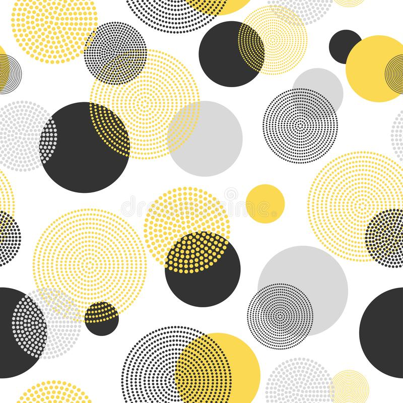 Colorful stylish seamless pattern. Abstract circles background.  stock illustration