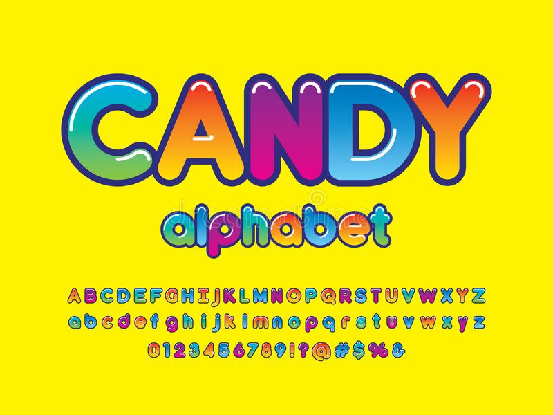 Colorful font royalty free illustration