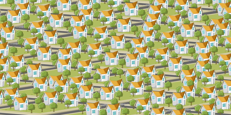 Download Colorful Suburb Neighborhood Stock Vector - Image: 37039166
