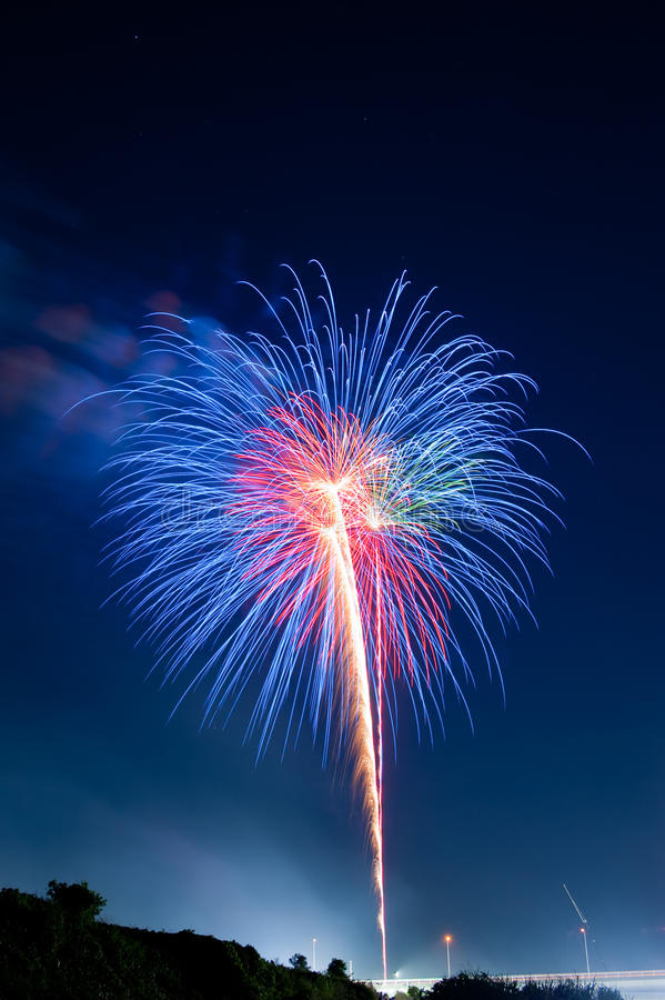 Free Colorful Summer Fireworks Royalty Free Stock Photography - 16716707