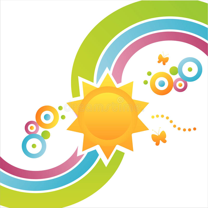 Colorful sun background vector illustration