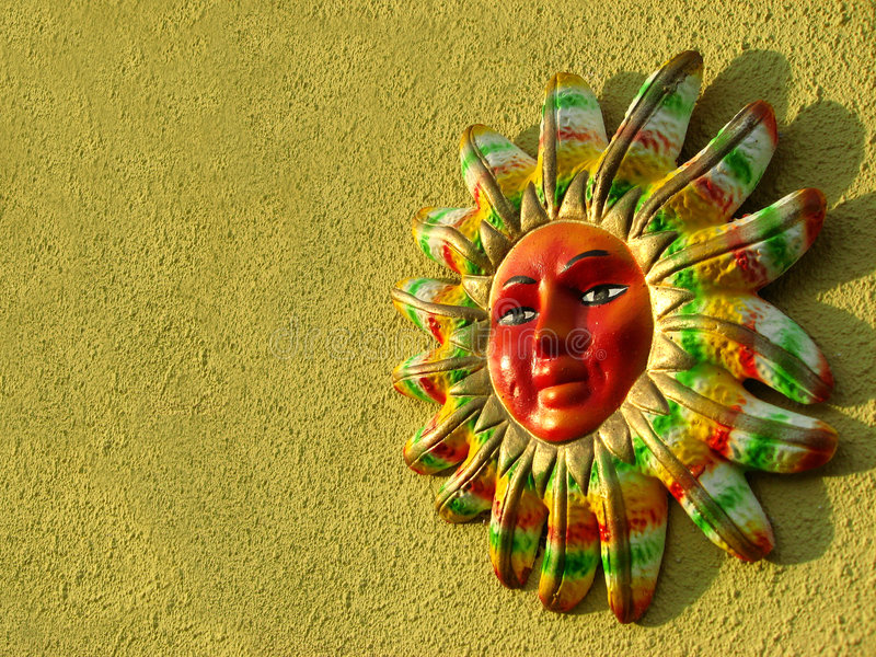 Colorful Sun w/ Clipping Path royalty free stock photos
