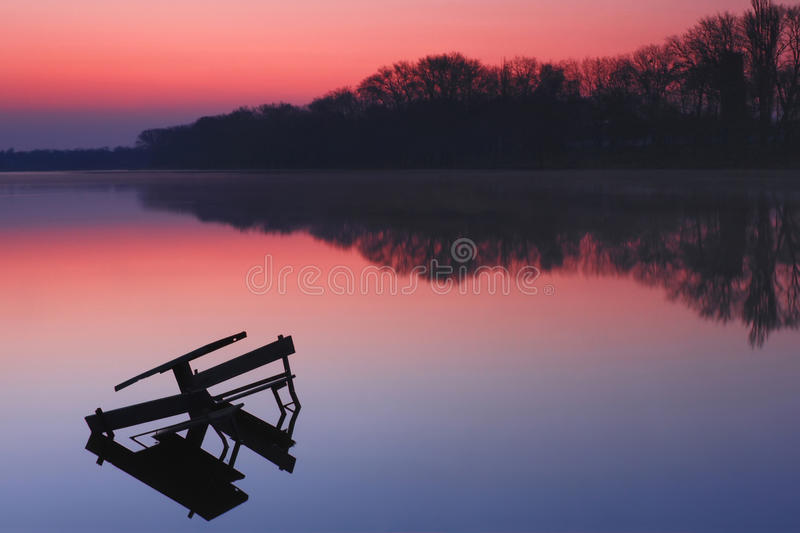 Download Colorful Sunrise Over The Lake Stock Photo - Image: 19741598