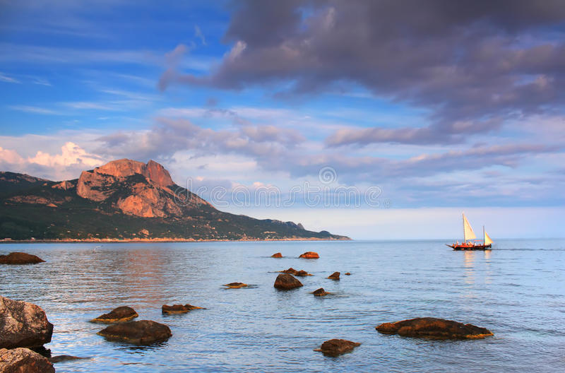 Colorful Sunrise On The Sea Royalty Free Stock Photo
