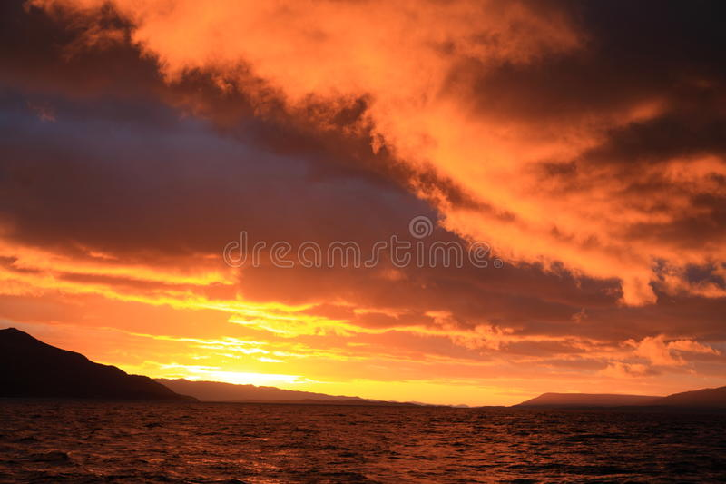 Colorful sunset royalty free stock image