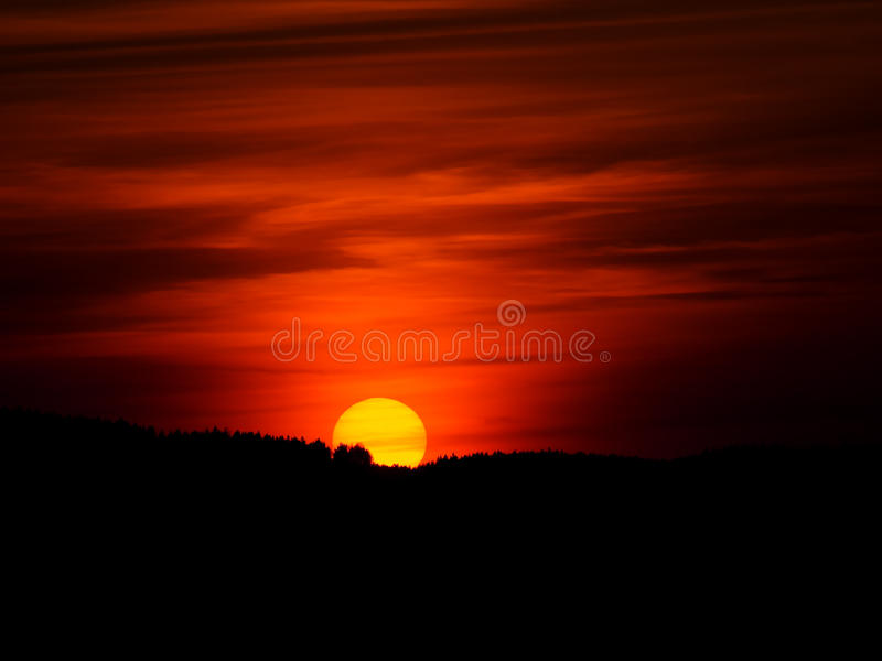 Colorful sunset royalty free stock photography