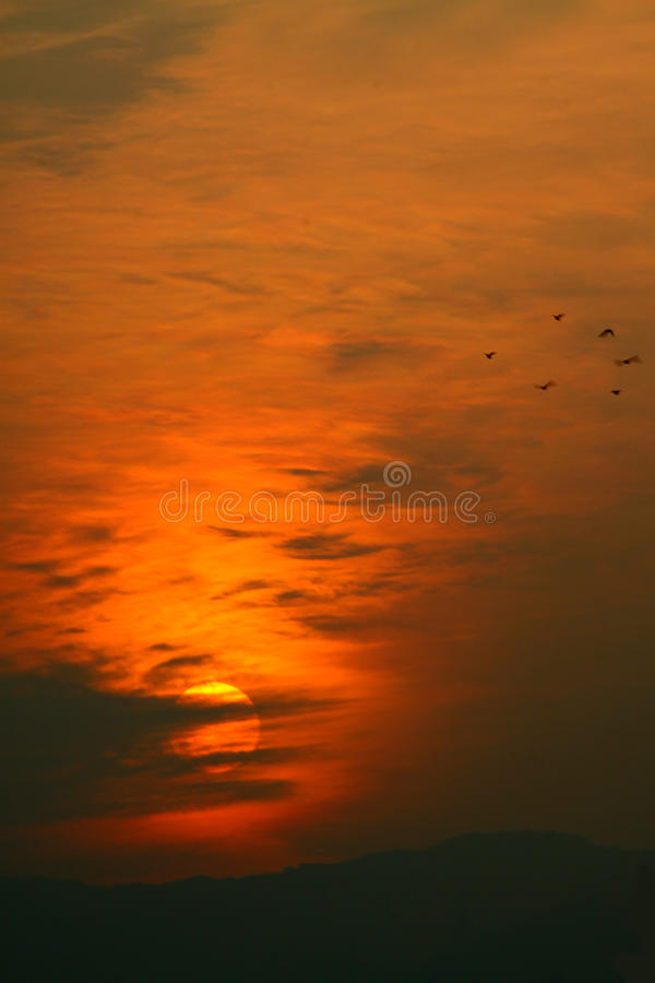 Download Colorful Sunset stock photo. Image of background, color - 17264508