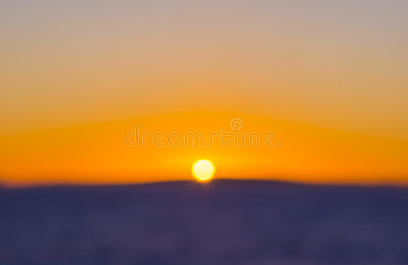 Colorful Sunset Blur stock images