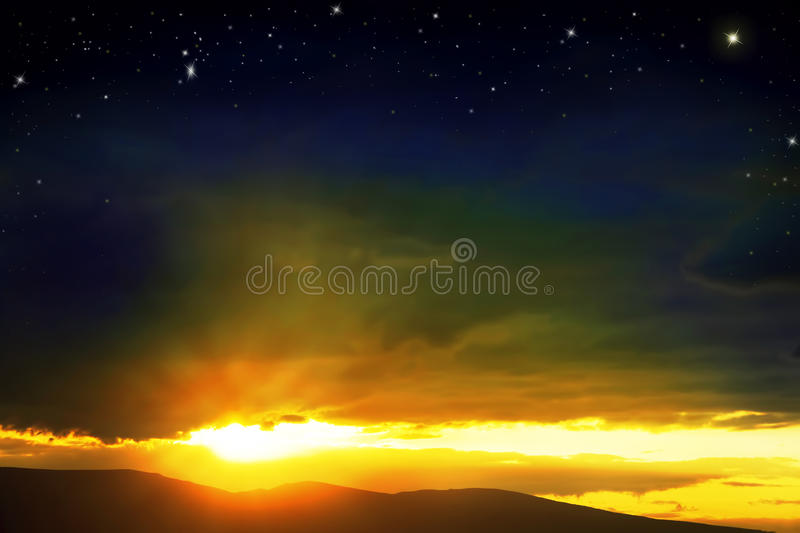 Colorful Sunset.Dramatic Sky royalty free stock photo