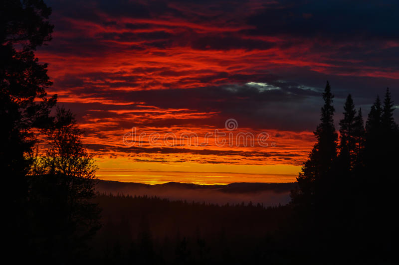 Colorful sunset stock image