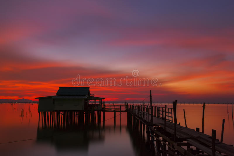 Colorful sunset stock photo
