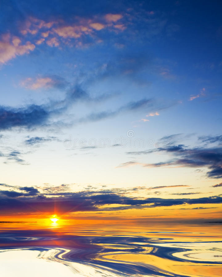 Download Colorful Sunset Over Ocean. Royalty Free Stock Images - Image: 25838139