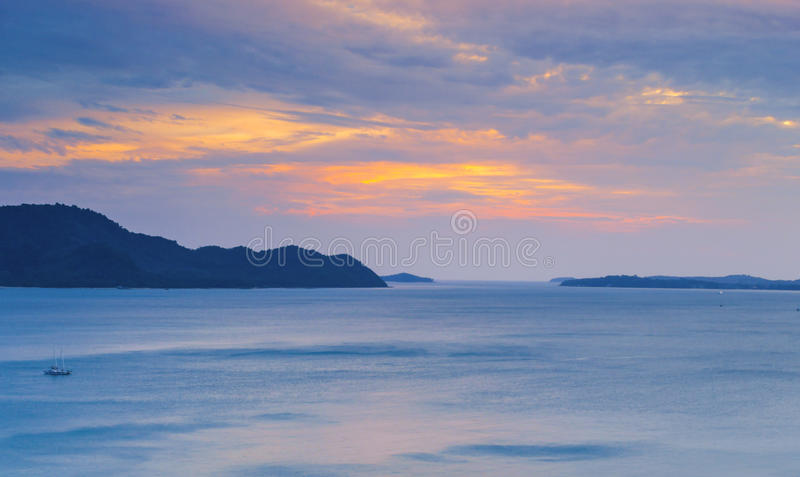 Download Colorful of sunset stock image. Image of tourism, tranquility - 39508231