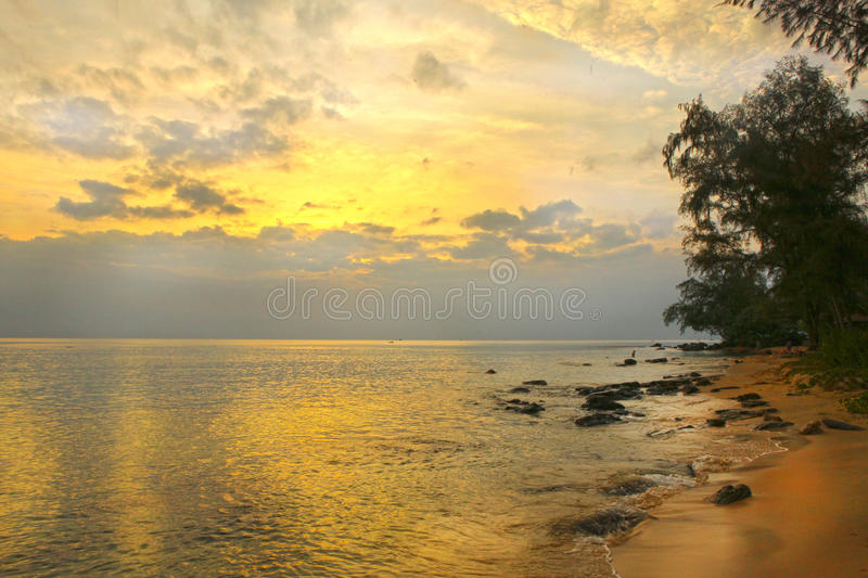 Colorful sunset on Phu Quock island. Vietnam royalty free stock images