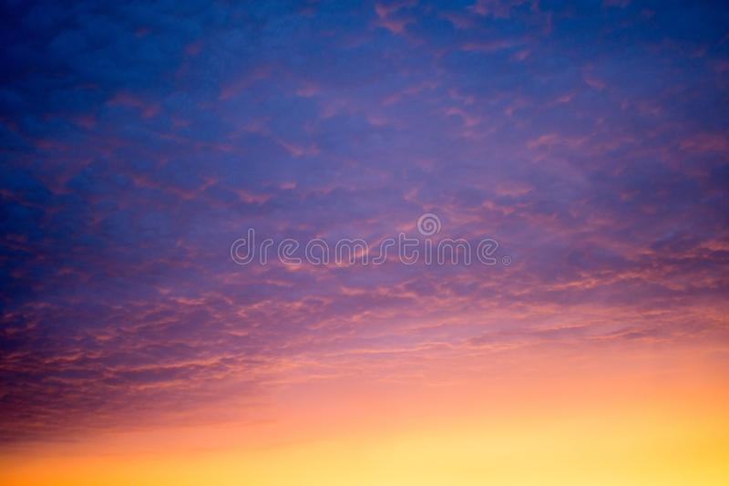 Colorful of sunset sky stock image
