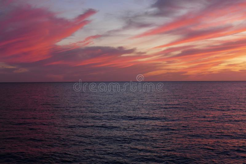 Colorful sunset on a summer night. royalty free stock photography