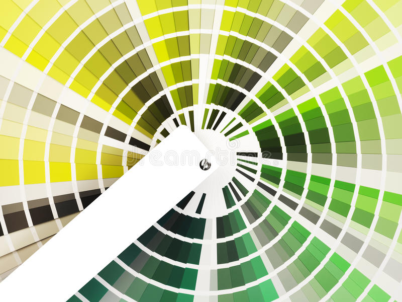 Download Colorful Swatch Book With Shades Of Green Stock Photo - Image: 21338256