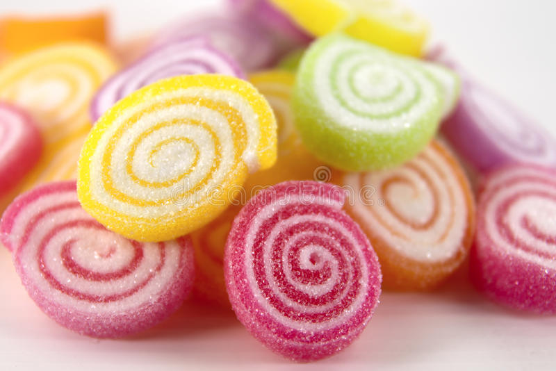 Colorful sweet dessert. Sweet dessert made from sugar and flour royalty free stock images