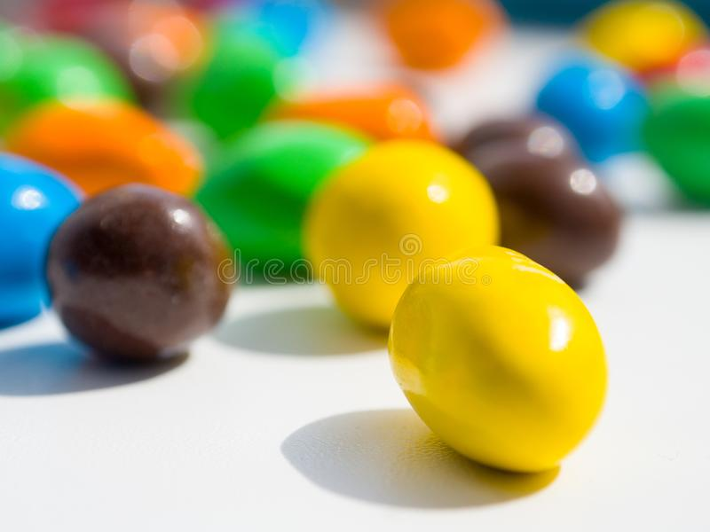 Colorful sweet round candies wallper stock photo
