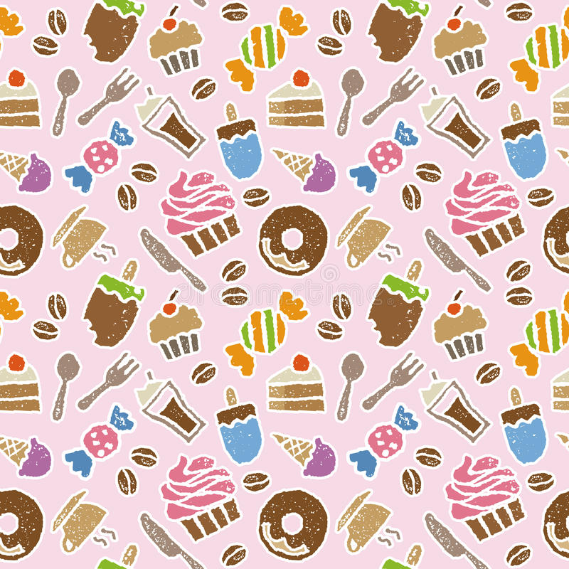 Colorful sweets seamless pattern royalty free illustration