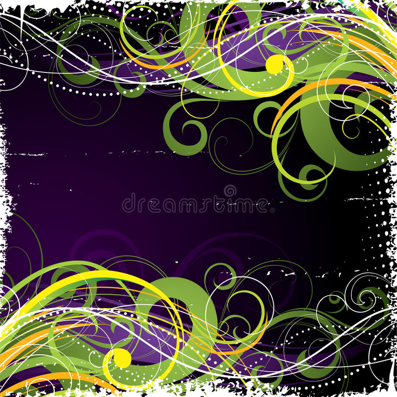 Colorful swirl background stock illustration