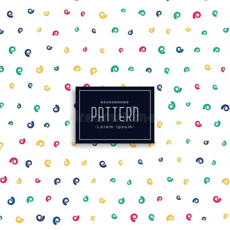 Colorful swirl vector pattern background royalty free illustration