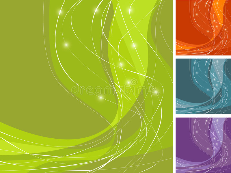 Colorful Swoosh Backgrounds stock images