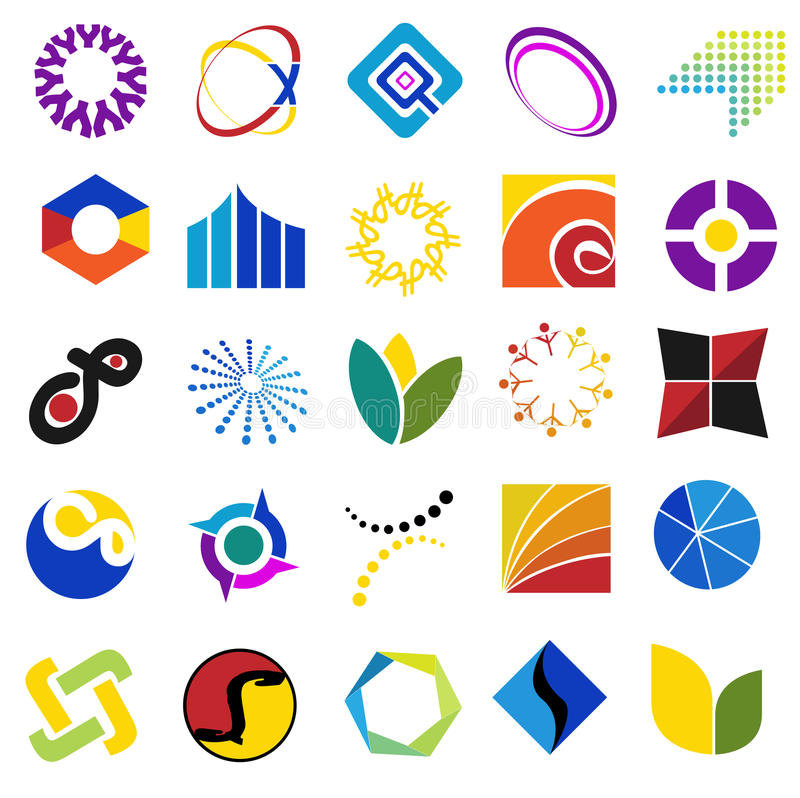 Download Colorful symbols stock vector. Image of colors, sticker - 13059035