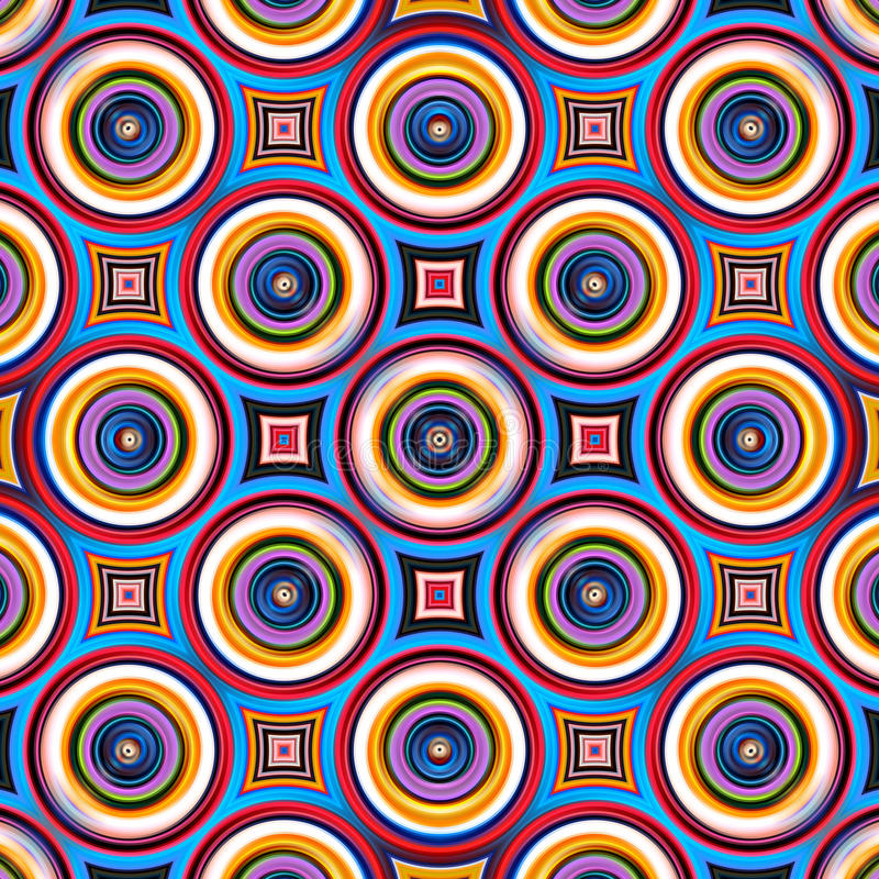 Colorful symmetrical abstract circle shapes pattern. stock photography