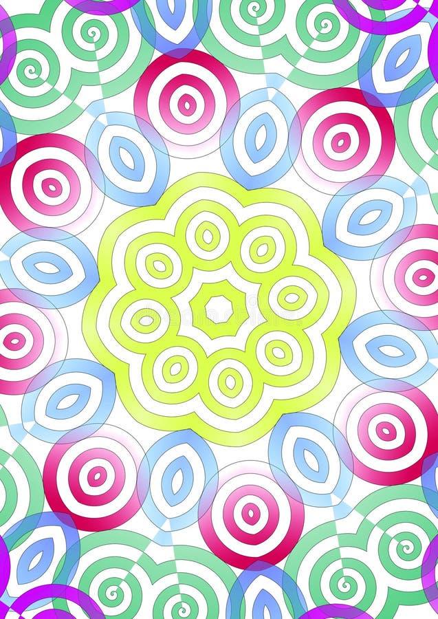 Colorful symmetrical illustration royalty free illustration