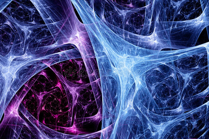 Colorful synapse system stock illustration