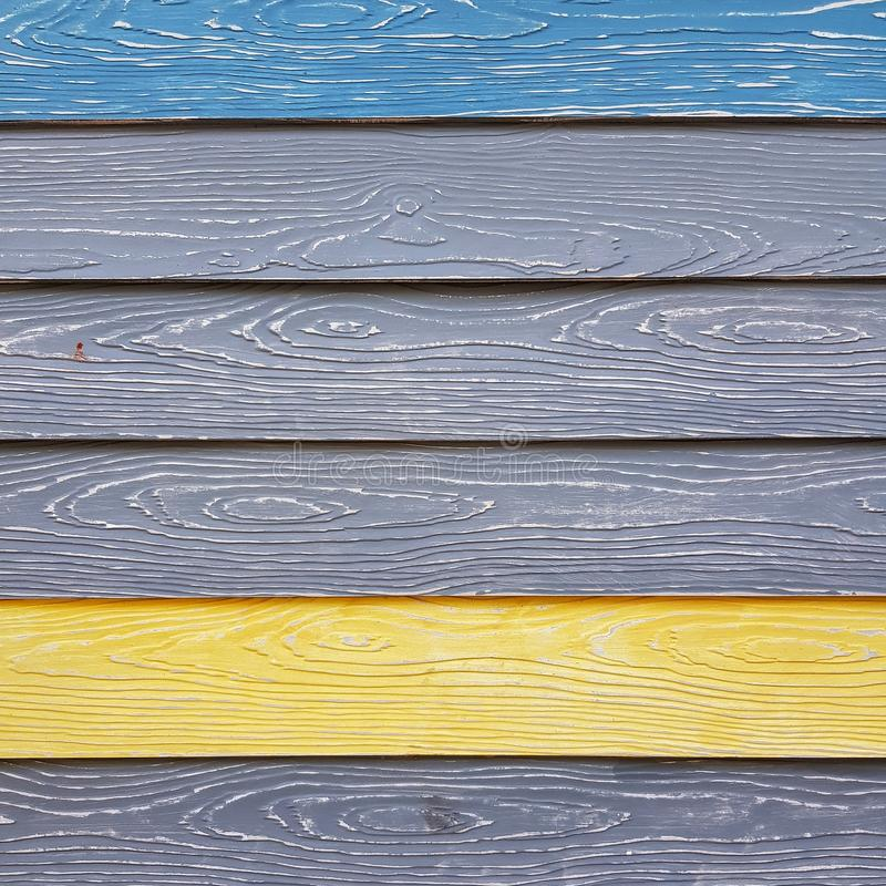 Colorful synthetic wood wall royalty free stock image