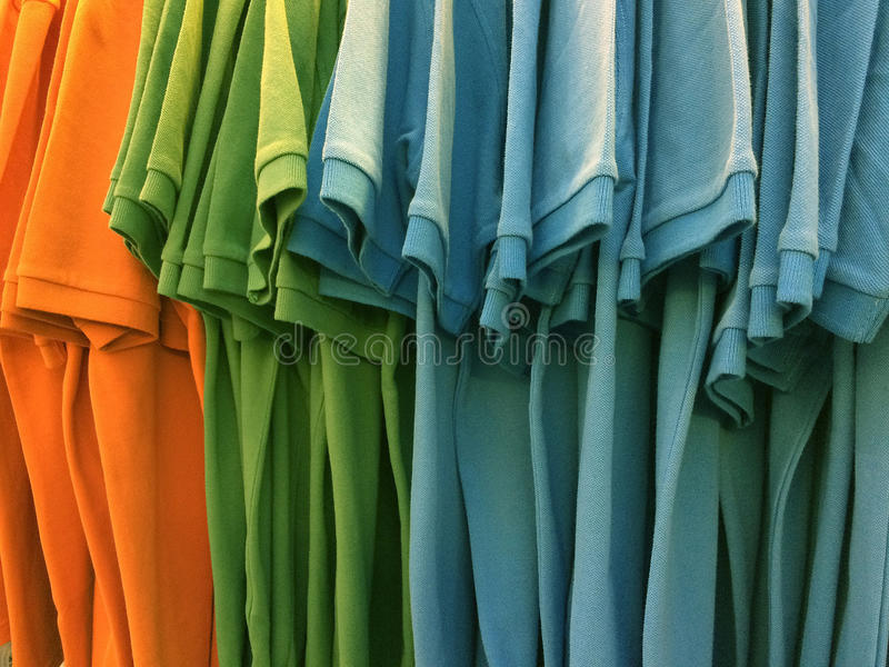 The colorful of T-shirt collection. The colorful of T-shirt collection for graphic background royalty free stock image
