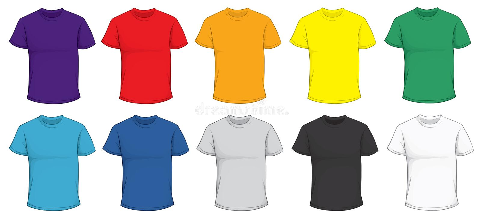 Colorful T-Shirt Template vector illustration