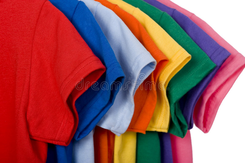 Colorful T Shirts On White Stock Photo Image Of Blue