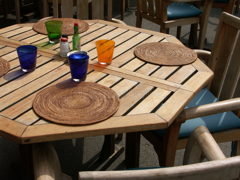 Colorful table stock photography