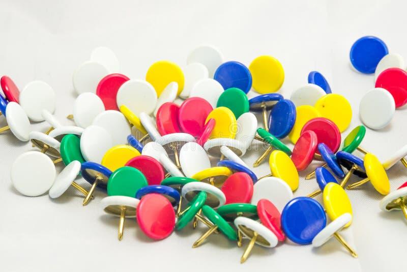 Colorful tacks royalty free stock photo