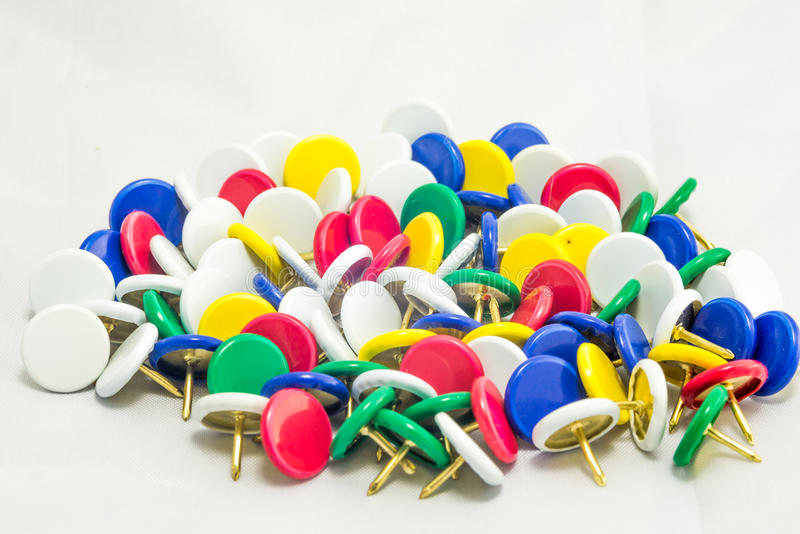 Colorful tacks royalty free stock photography