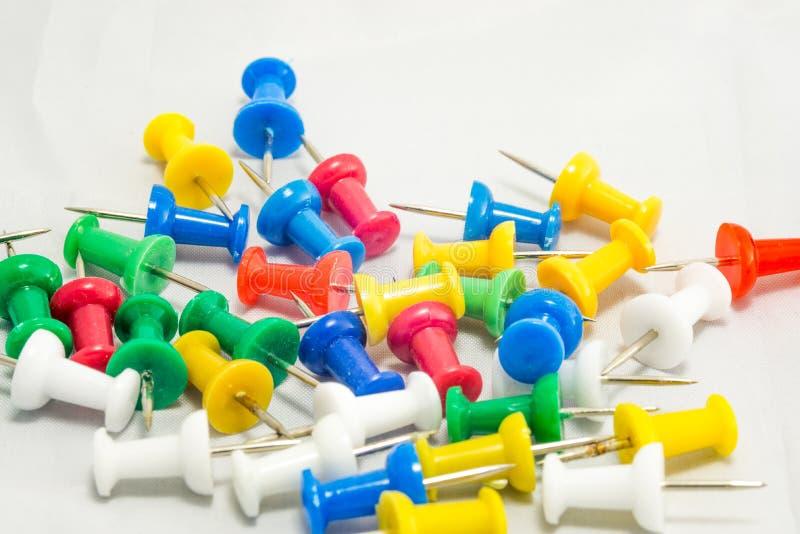 Colorful tacks royalty free stock photos
