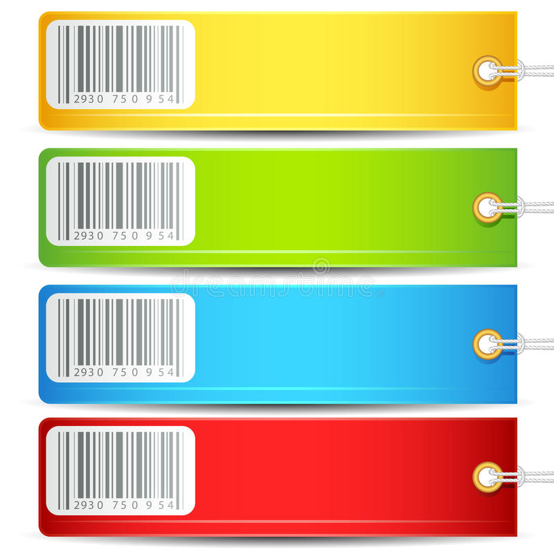 Colorful Tag royalty free illustration