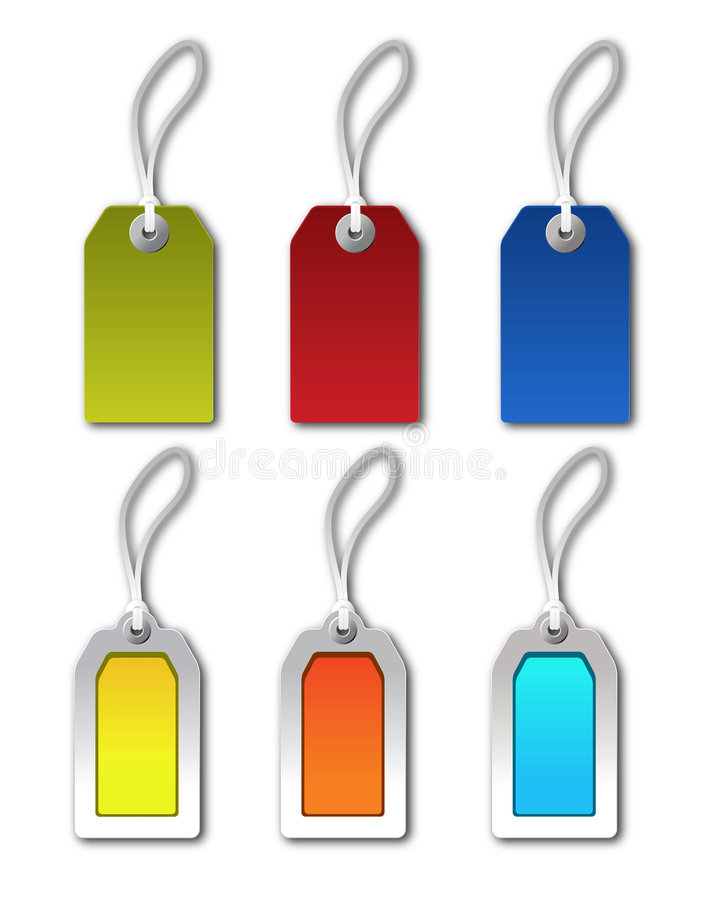 Colorful Tags royalty free illustration